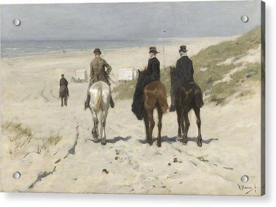 Morning Ride Along The Beach Acrylic Print