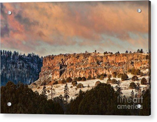 Morning Sun On The Ridge Acrylic Print