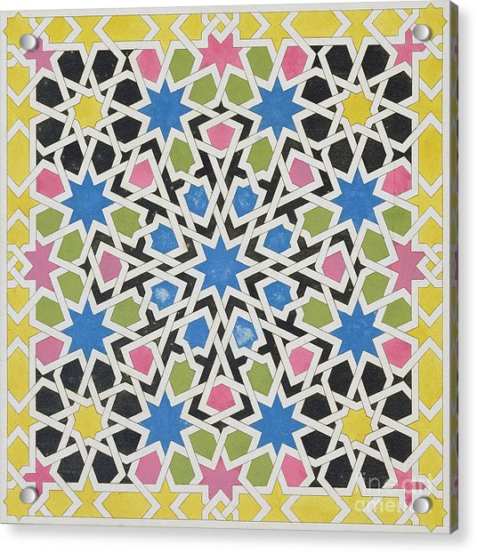 Mosaic Design From The Alhambra Acrylic Print
