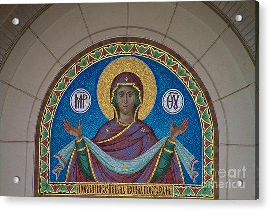 Mother Of God Mosaic Acrylic Print