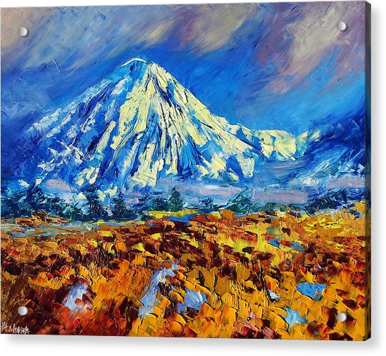 Mountain Painting Fine Art By Ekaterina Chernova Acrylic Print