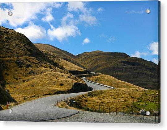 Mountain Pass Road Acrylic Print