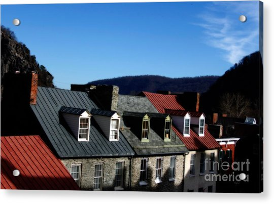 Mountains Of Rooftops  Acrylic Print by Steven Digman