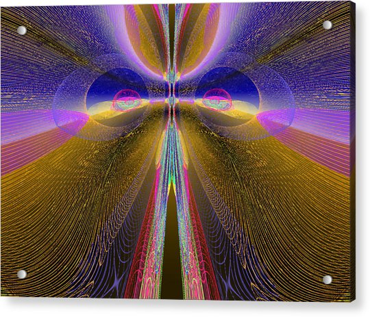 Acrylic Print featuring the digital art Moving Too Fast by Stephen Coenen