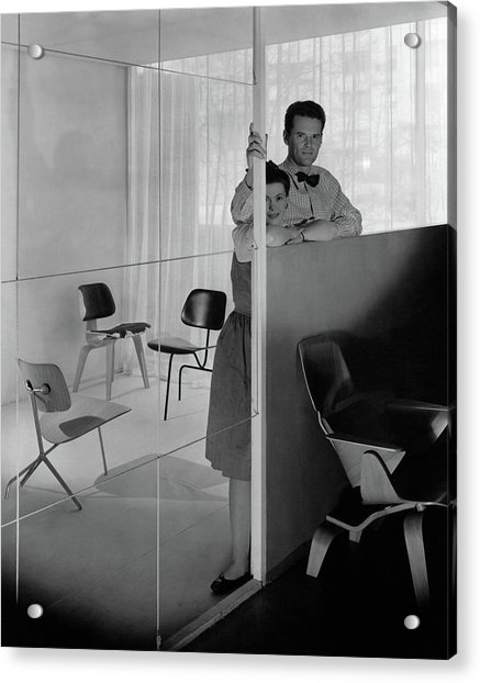 Mr And Mrs Charles Eames At The Museum Of Modern Acrylic Print