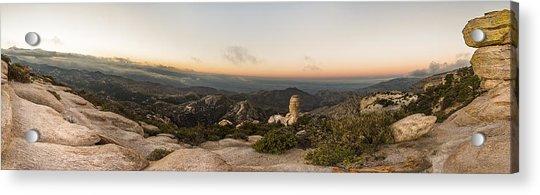 Mt. Lemmon Windy Point Panorama Acrylic Print