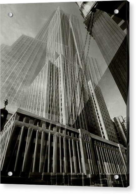 Multiple Exposure Of The Empire State Building Acrylic Print