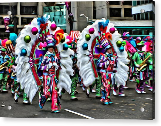 Acrylic Print featuring the photograph Mummer Color by Alice Gipson