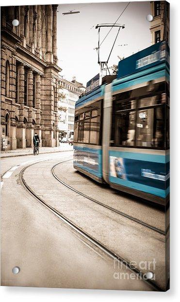 Munich City Traffic Acrylic Print