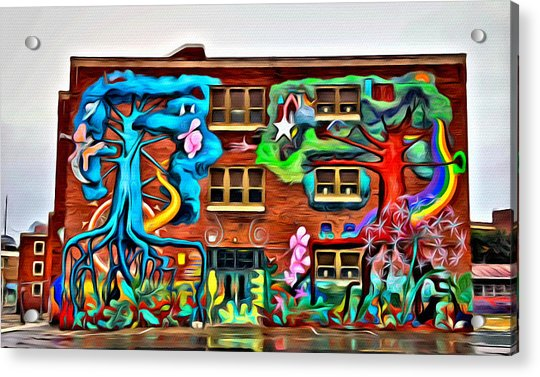 Acrylic Print featuring the photograph Mural On School by Alice Gipson