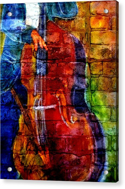 Musician Bass And Brick Acrylic Print