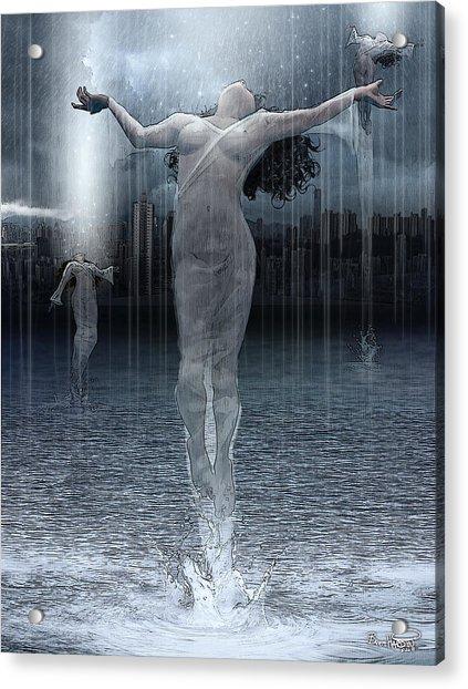 Naiads Water Nymph Acrylic Print