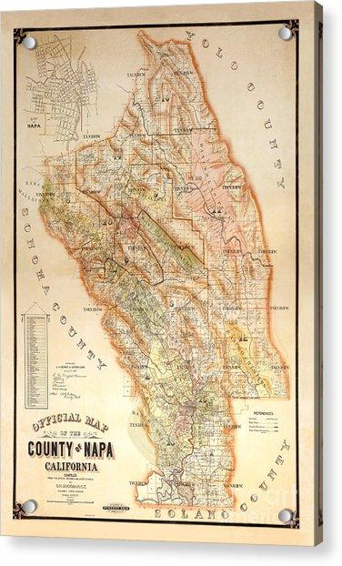 Napa Valley Map 1895 Acrylic Print