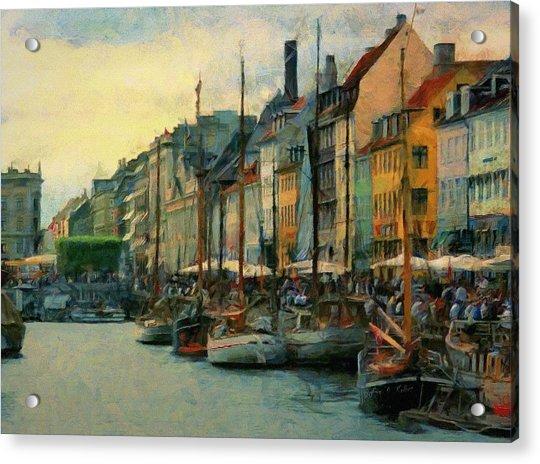 Nayhavn Street Acrylic Print