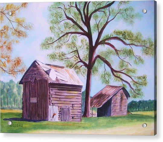 Nc Tobacco Barns Acrylic Print