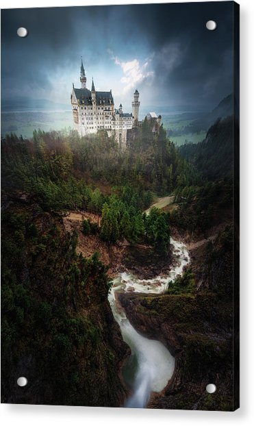 Neuschwanstein. Acrylic Print by Juan Pablo De