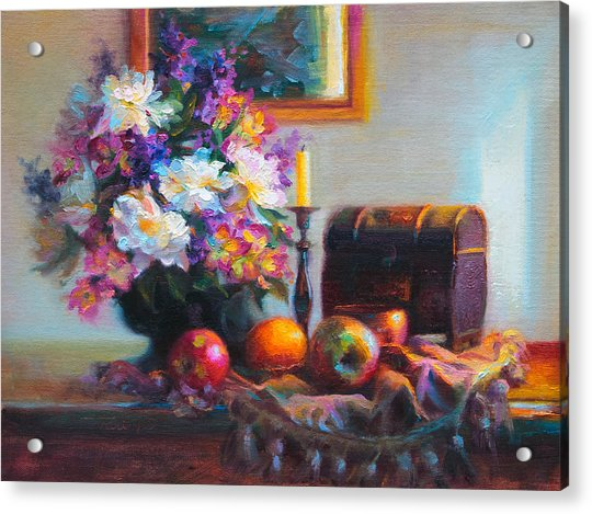 Acrylic Print featuring the painting New Reflections by Talya Johnson