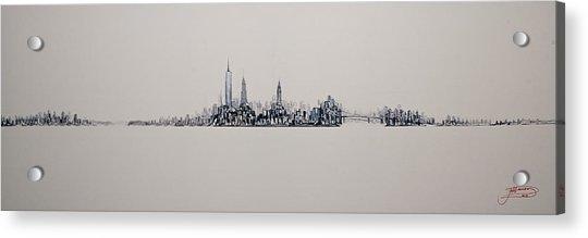New York City 2013 Skyline 20x60 Acrylic Print