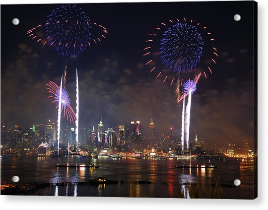 New York City Fireworks Show Acrylic Print