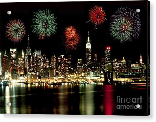New York City Fourth Of July Acrylic Print