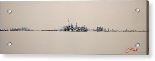 New York City Skyline 15x45 2013 Acrylic Print