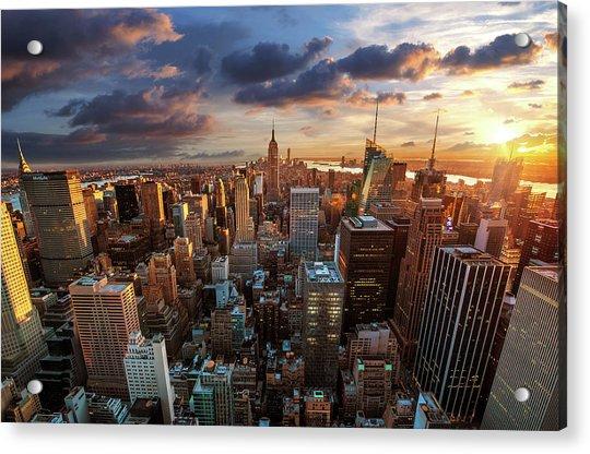 New York City Skyline Acrylic Print by Dominic Kamp Photography