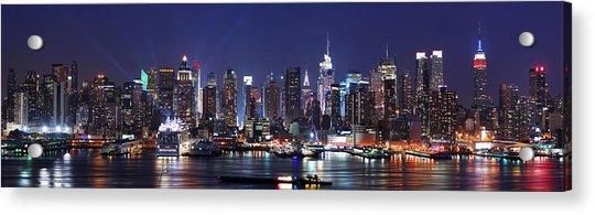 New York City Skyline Panorama Acrylic Print
