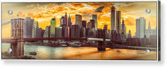 Acrylic Print featuring the photograph New York City Summer Panorama by Chris Lord