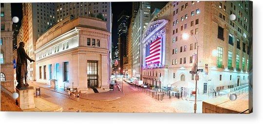 New York City Wall Street Panorama Acrylic Print