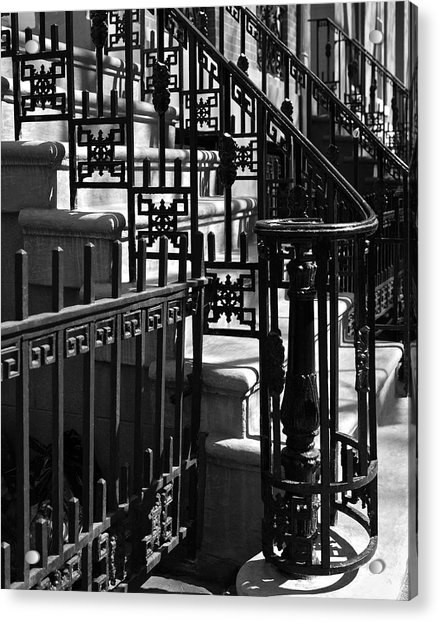 Acrylic Print featuring the photograph New York City Wrought Iron by Rona Black