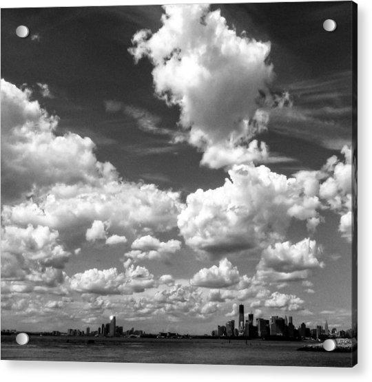 New York Harbor Sky Acrylic Print