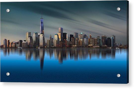 New York World Trade Center 1 Acrylic Print by Yi Liang