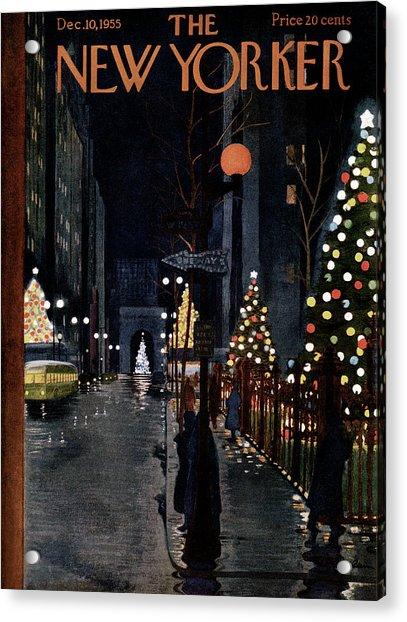 New Yorker December 10th, 1955 Acrylic Print