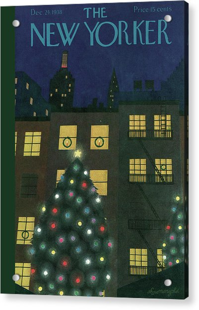 New Yorker December 24th, 1938 Acrylic Print