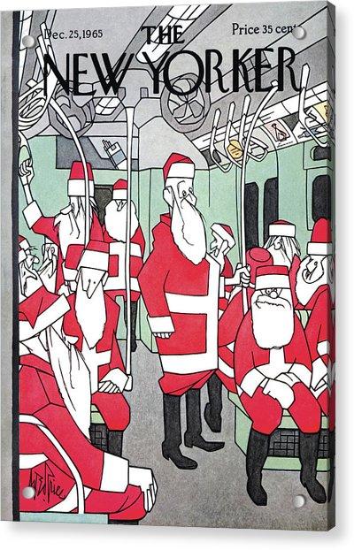 New Yorker December 25th, 1965 Acrylic Print