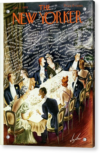 New Yorker January 7 1939 Acrylic Print