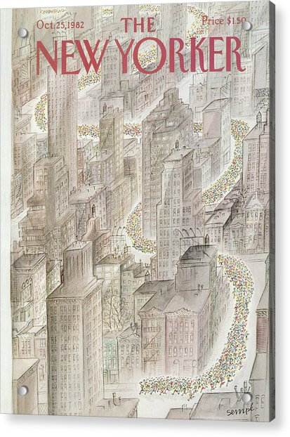 New Yorker October 25th, 1982 Acrylic Print