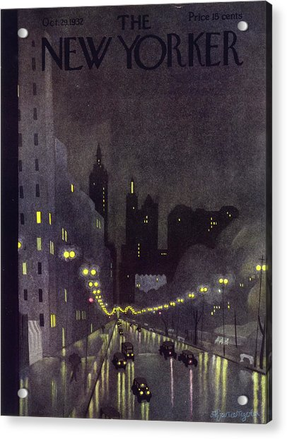 New Yorker October 29 1932 Acrylic Print