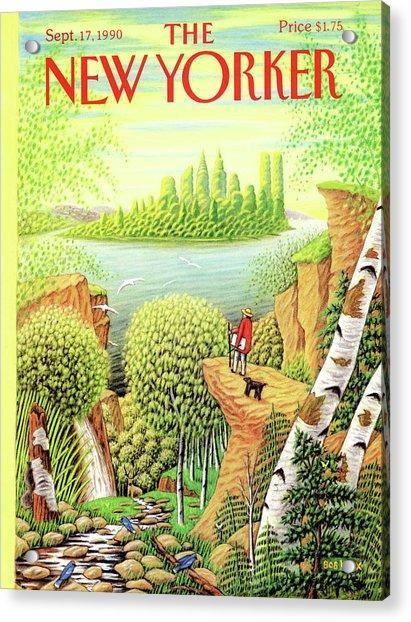 Green New York Acrylic Print