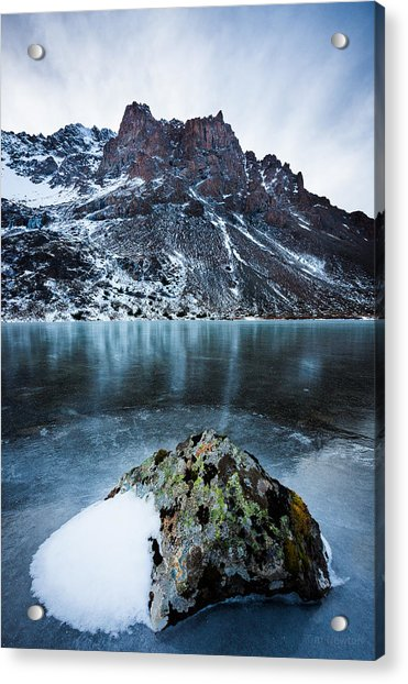 Acrylic Print featuring the photograph Frozen Mountain Lake by Tim Newton