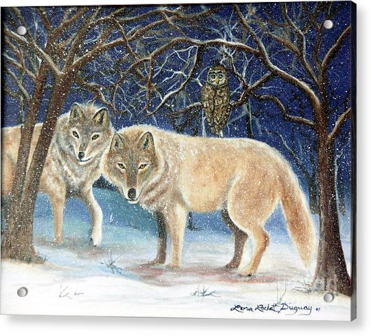 Night Life In The Forest Acrylic Print