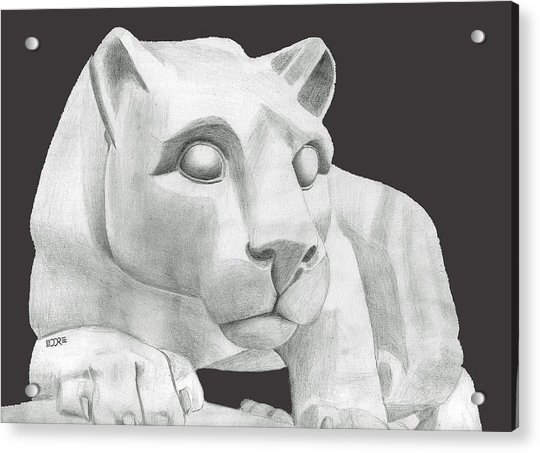 Nittany Lion Statue Acrylic Print