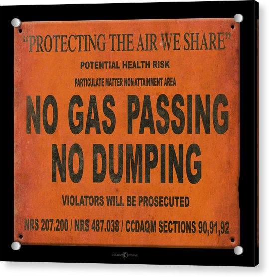 No Gas Passing Acrylic Print