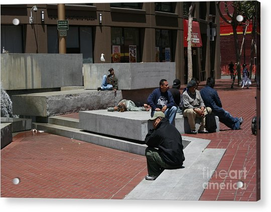 Acrylic Print featuring the photograph No Loitering by Cynthia Marcopulos