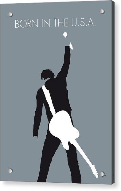 No017 My Bruce Springsteen Minimal Music Poster Acrylic Print