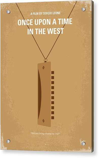 No059 My Once Upon A Time In The West Minimal Movie Poster Acrylic Print