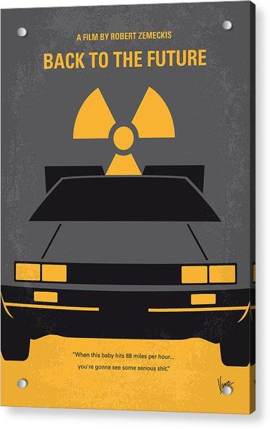 No183 My Back To The Future Minimal Movie Poster Acrylic Print