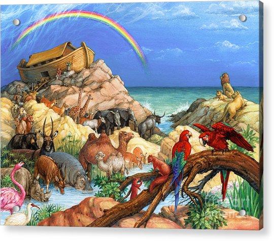 Noah And The Ark Acrylic Print