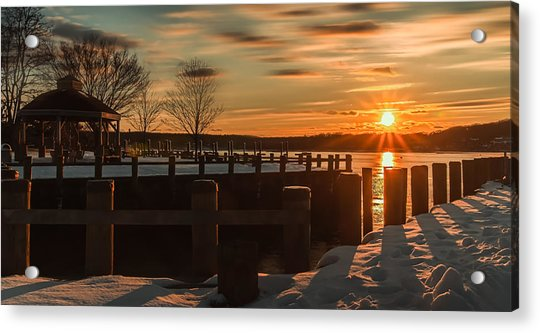 Northport New York Winter Sunset Acrylic Print