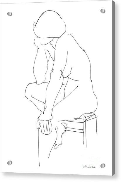 Nude Female Drawings 12 Acrylic Print